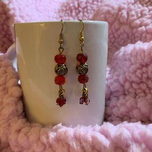 Red & Gold Earrings